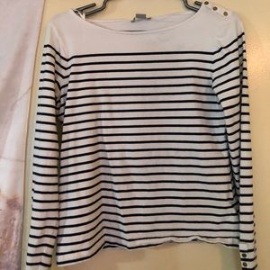 Black and white H&M striped shirt